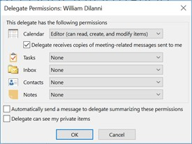 Set up delegate access in Outlook