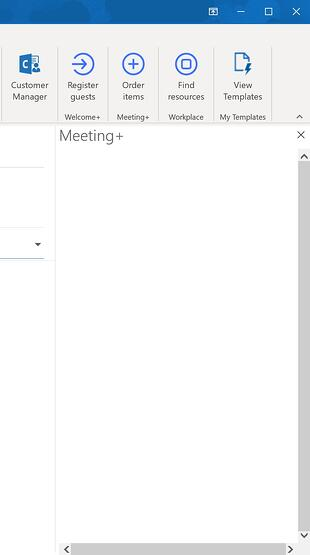 Blank AskCody add-in in Outlook