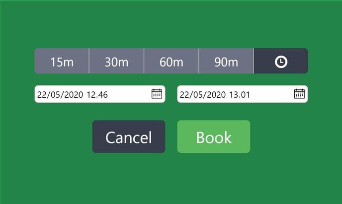 AskCody room displays time picker