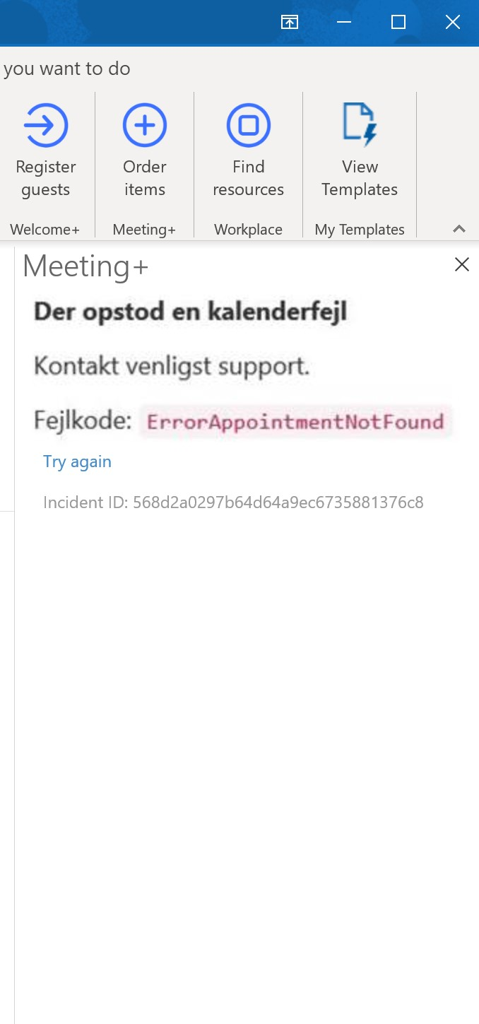 Error code in AskCody Add-in in Outlook