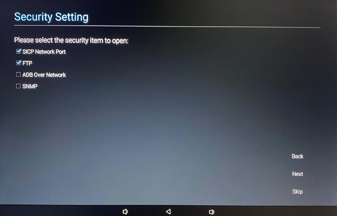 Security Settings for Philips 10BDL4551T