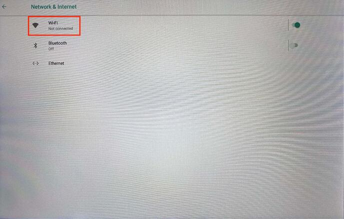 Settings for network and internet on Philips 10BDL4551T