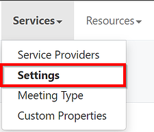 Meeting Services Settings