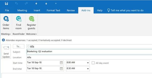 Meeting in Microsoft Outlook