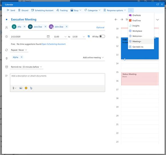 AskCody Meeting Services Add-in on Outlook for the Web