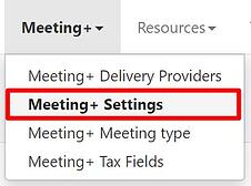 Meeting+ Settings