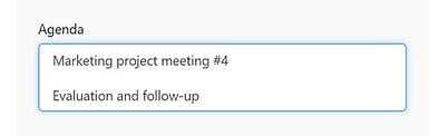 Multi-line text Tax field type in the Meeting Services portal