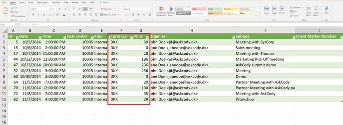 Standard currency in settlements CSV export